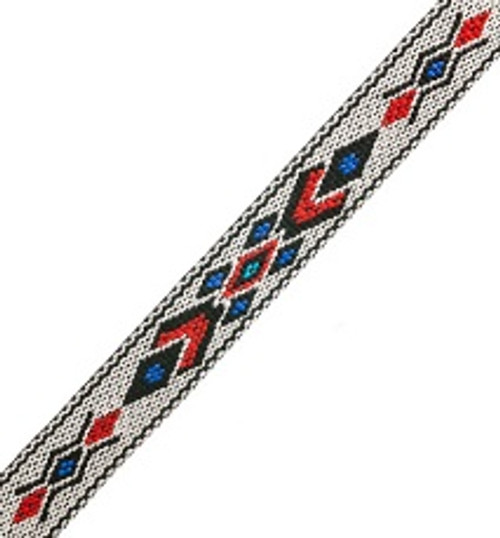 Woven-braided Trim ¾ inch x 5 ft Design 2