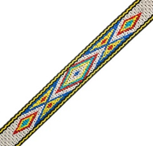 Woven-braided Trim ¾ inch x 5 ft  Design 4
