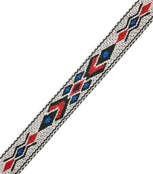 Woven-braided Trim ¾ inch x 5 ft  Design 5