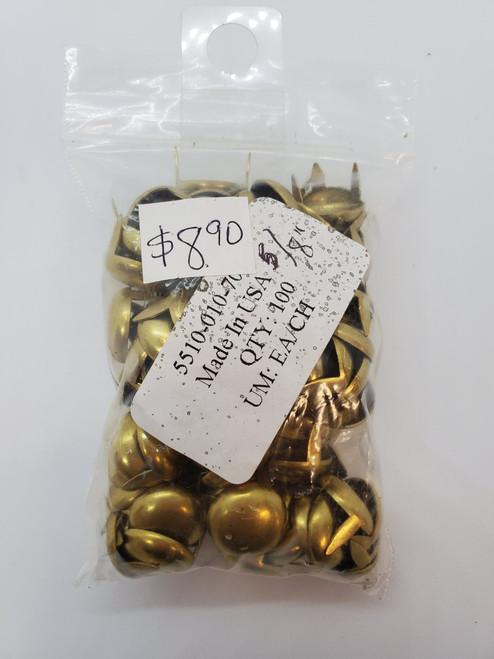 """5/8"""" Spots Gold- 100pcs"""