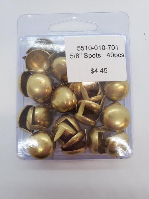 """5/8"""" Spots Gold - 40pcs"""