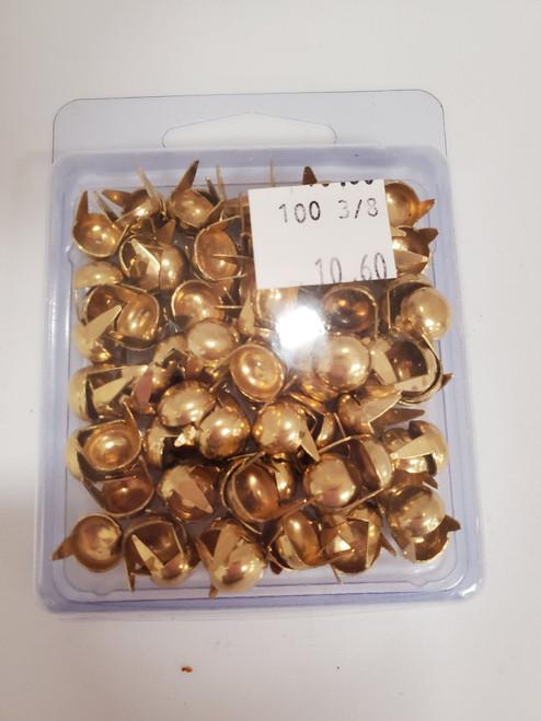 """3/8"""" Gold Spots- 100pc"""