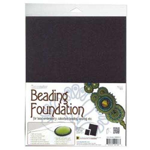 BEADSMITH BEADING FOUNDATION 8.5X11 IN BLACK- 4 PER PACK