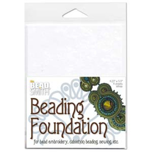 BEADSMITH BEADING FOUNDATION 4.25X5.5 INCH WHITE 4/PK