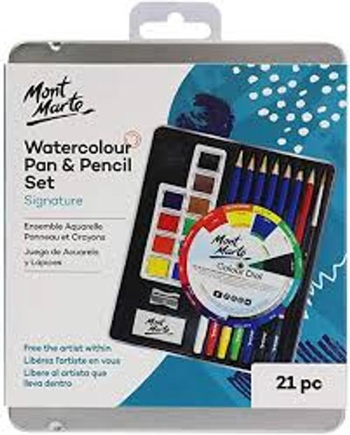 Watercolour Pan & Pencil Set