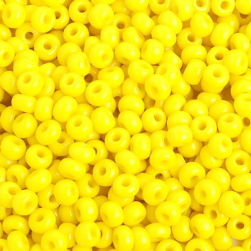 Opaque Lemon Yellow 6/0