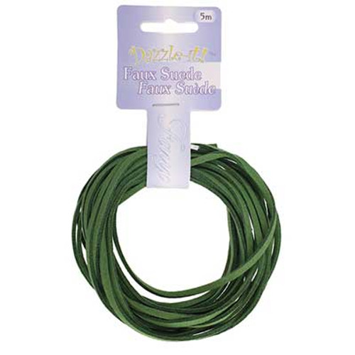 Faux Suede Lacing 5 metres Emerald
