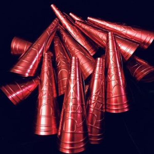 Anishinaabe Bimishimo Child Jingles  Selection of Embossed in Red 100 cones per bag