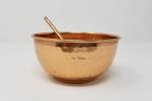 """Pure copper bowl 5"""" diameter with spoon"""
