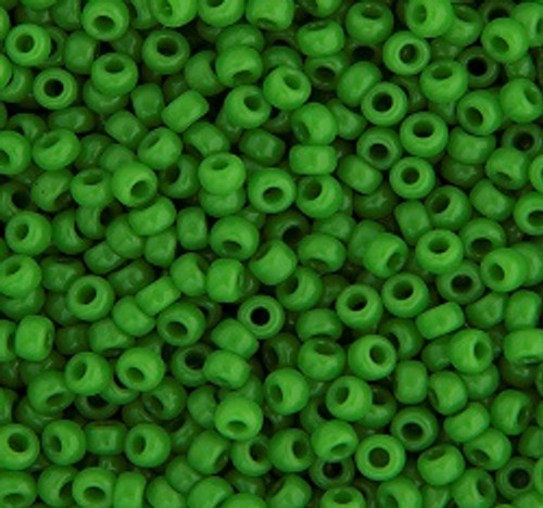 11/0 seed bead  22g vial  Green Pea Opaque