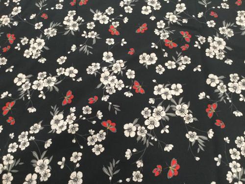 Floral 9929 Black