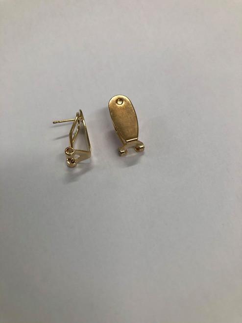 Finger nail posts gold