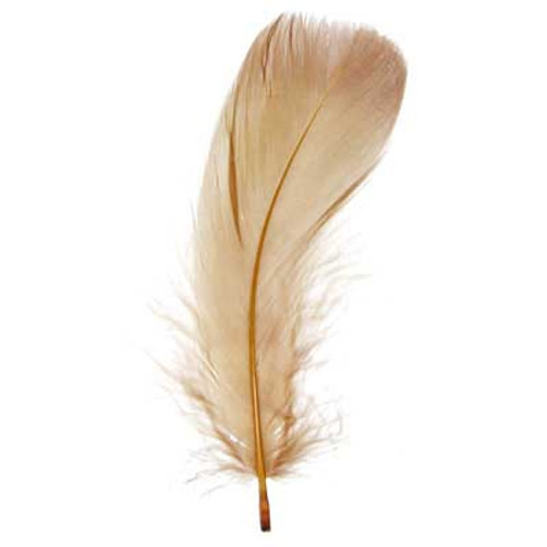"""5""""-7"""" Goose Feathers -Brown"""