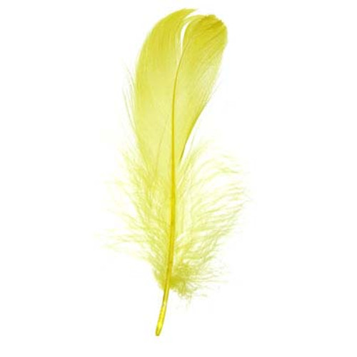 """5""""-7"""" Goose Feathers -Yellow"""
