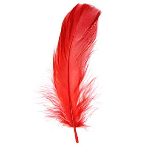 """5""""-7"""" Goose Feathers -Red"""