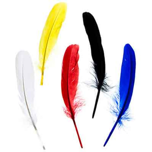 """5""""-6"""" Goose Feathers -Green"""