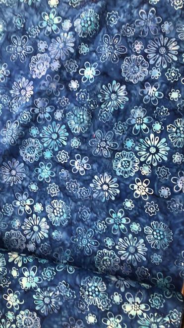 Floral Batik -Blue