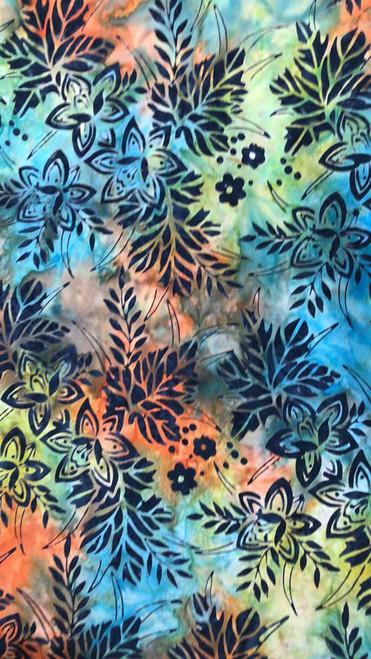 Floral Batik -Tie Dye