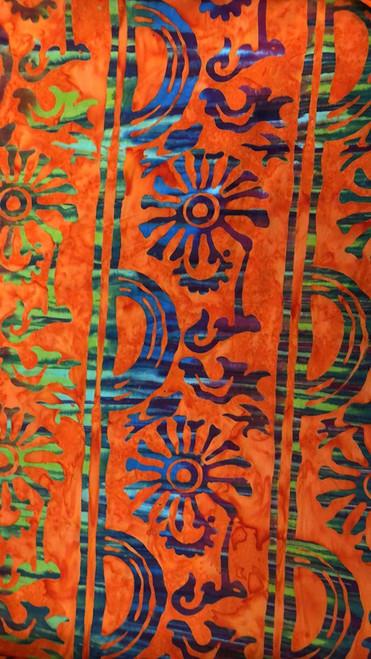 Aztec -Orange Floral