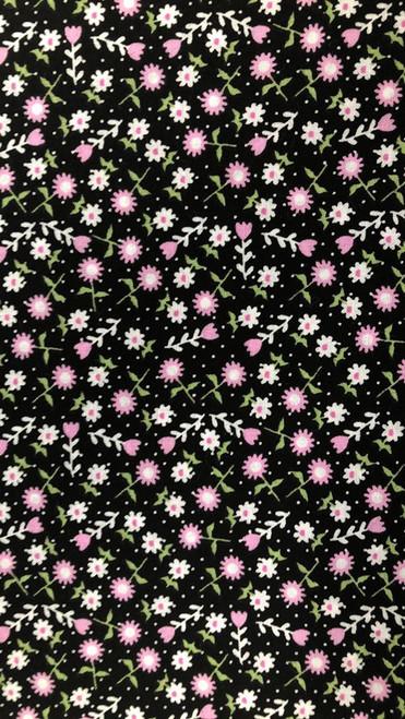 Tiny Floral -Black