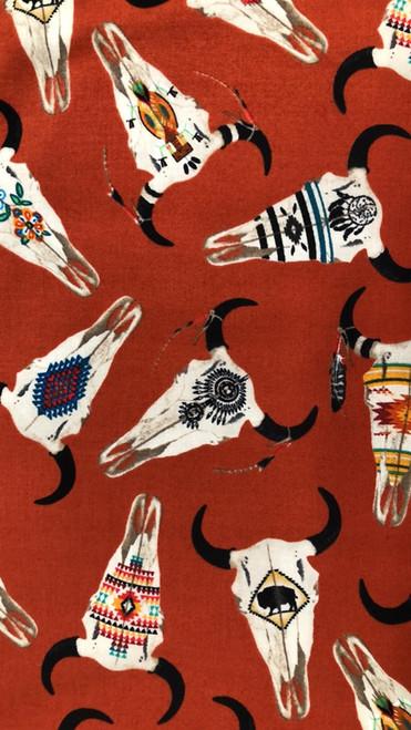 Buffalo Skulls -Terracotta
