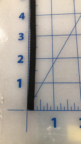 "1/4"" black, flat elastic"