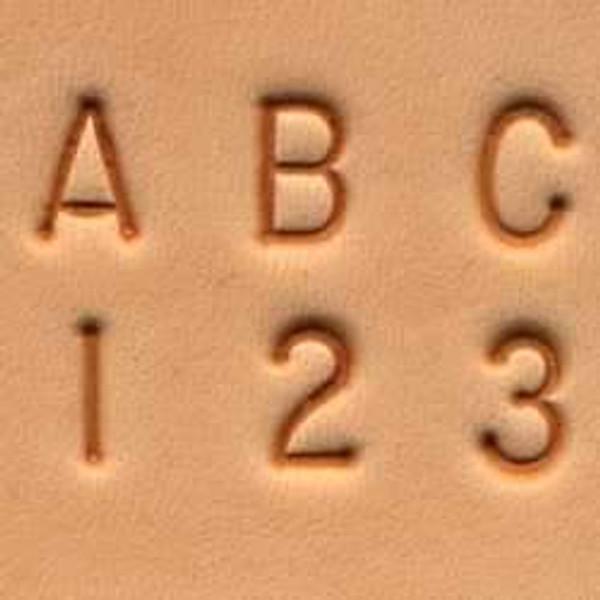 """1/4"""" Alphabet & Number Stamp Set"""