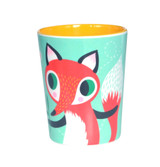 Mint Fox and Rabbit Cup
