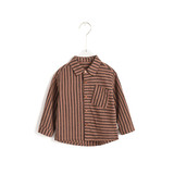 Allover Brown Stripes Button Shirt