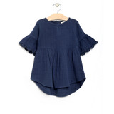 Organic Dress With Flutter Sleeves