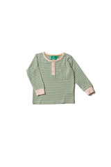 Organic Alpine Green Stripe Pocket Tee