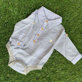 Blue Spot Button Down Onesie