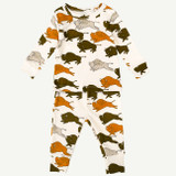 Organic Buffalo Two Piece Pajama Set