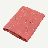 Organic Apricot Floral Swaddle