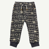 Charcoal Printed Terry Pant