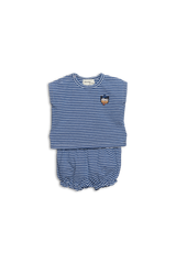 Denim Stripe Layette Set