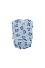 Blue Floral Layette Set