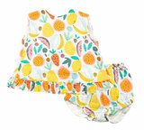 Tropical Fruit Ruffle Top And Bloomer