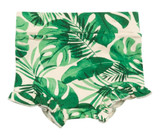 Monstera High Waist Shorts