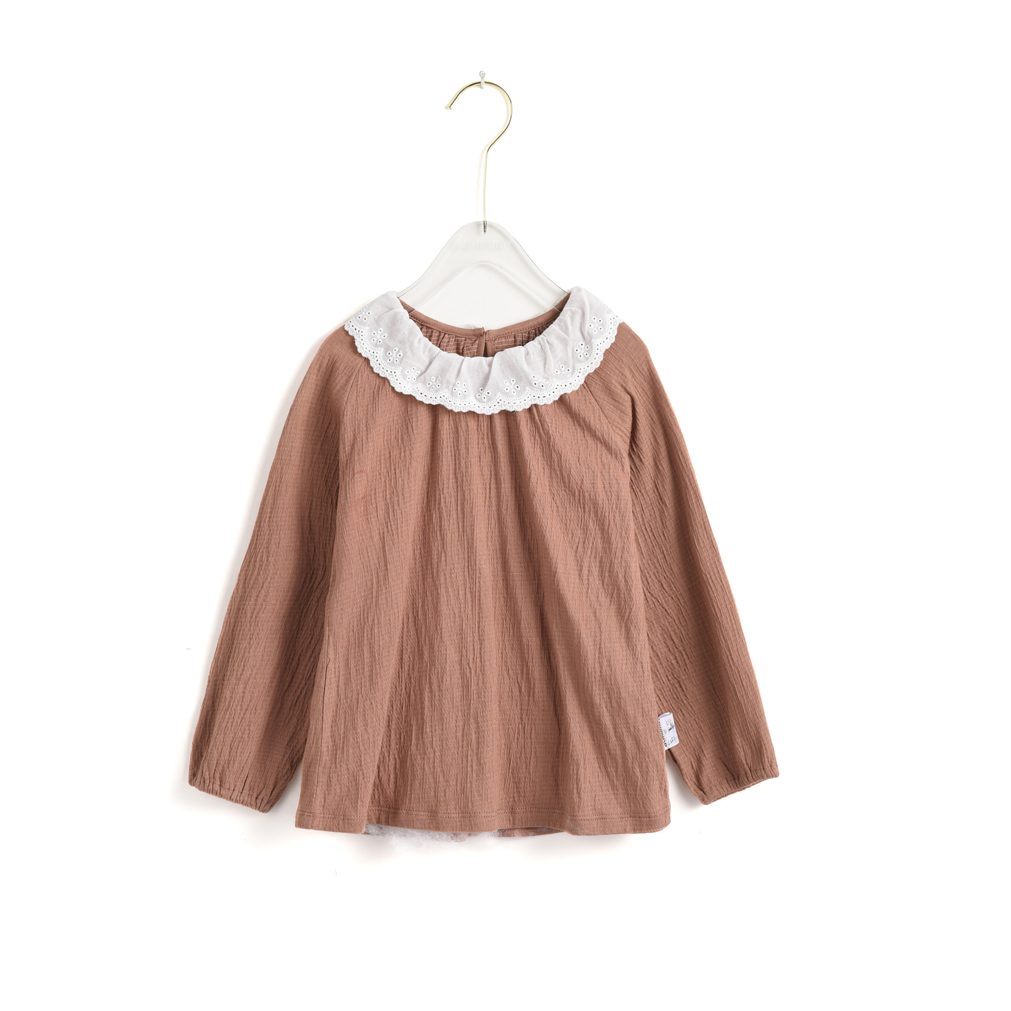 Coffee Blouse With Collar