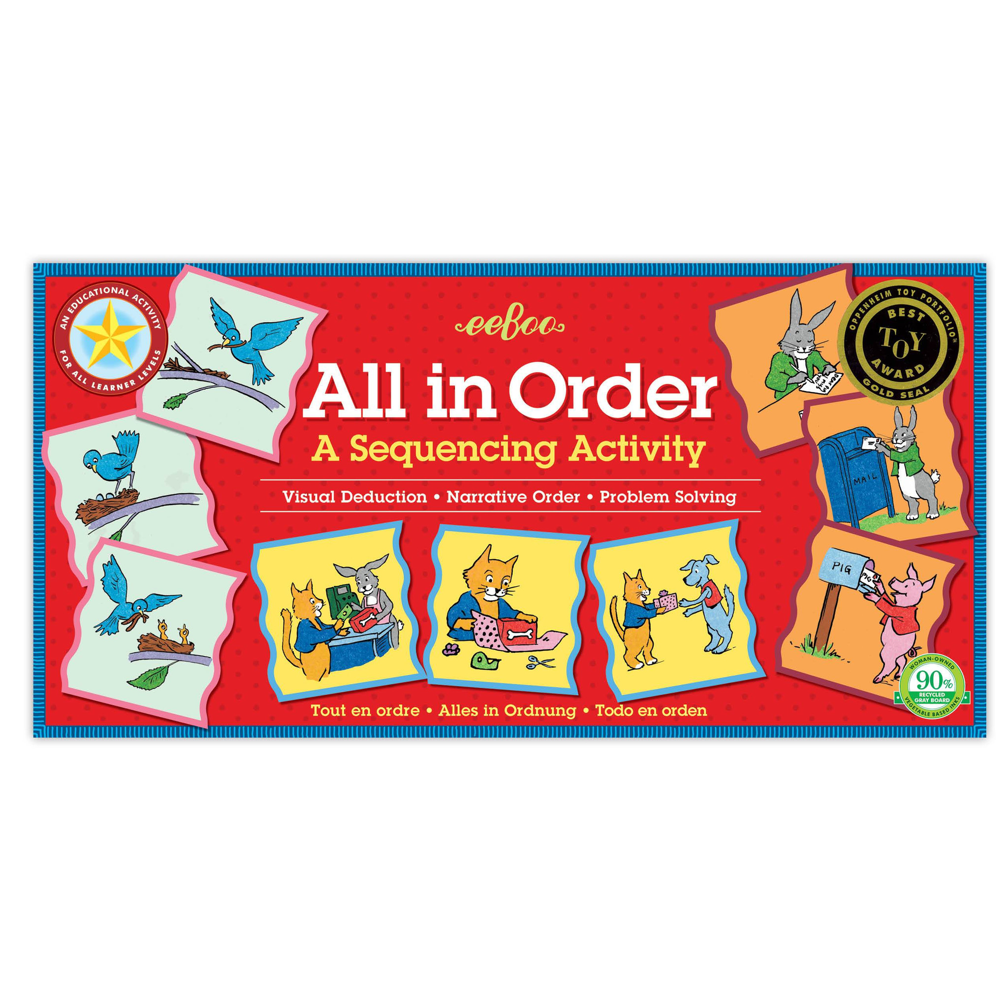 All In Order Game for All Learning Levels
