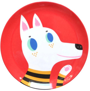 Red Wolf and Dog Plate