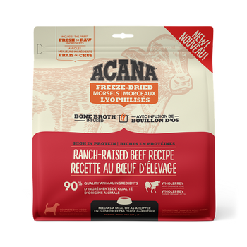 Ranch-Raised Beef & Mackerel Freeze-Dried Bone Broth Infused High Protein Morsels