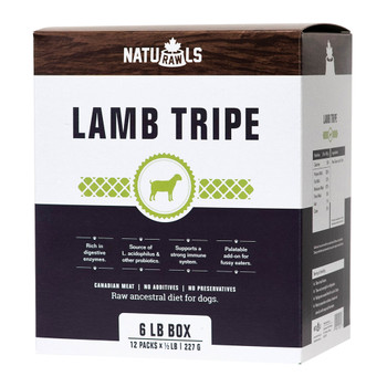 Pure Raw Lamb Tripe, 227g, Pack of 12