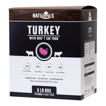 Pure Raw Hormone-Free & Antibiotic-Free Turkey with Beef, 113g, Pack of 24