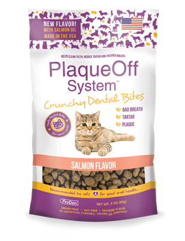 PlaqueOff® Crunchy Dental Salmon Bites for Cats