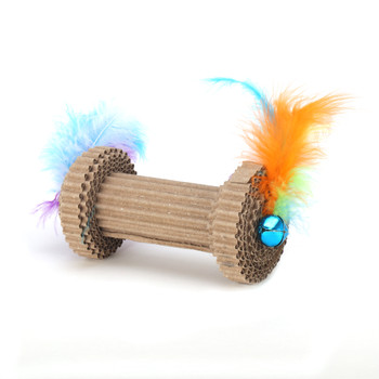 Corrugated Barbell Roller Cat Toy