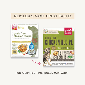 Grain Free Chicken Dehydrated Dog Food (Force)