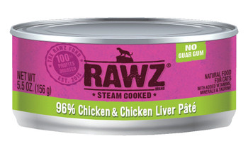 96% Chicken & Chicken Liver Canned Cat Food Pâté, 5.5oz