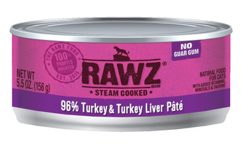96% Turkey & Turkey Liver Canned Cat Food Pâté, 5.5oz